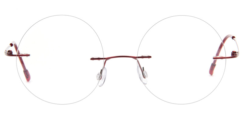Voogueme cheap prescription eyeglasses online, rimless frames