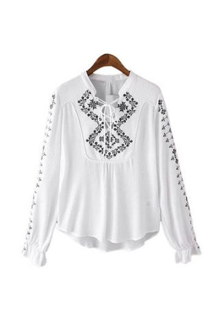 camicia ricamata, shopping su yoins