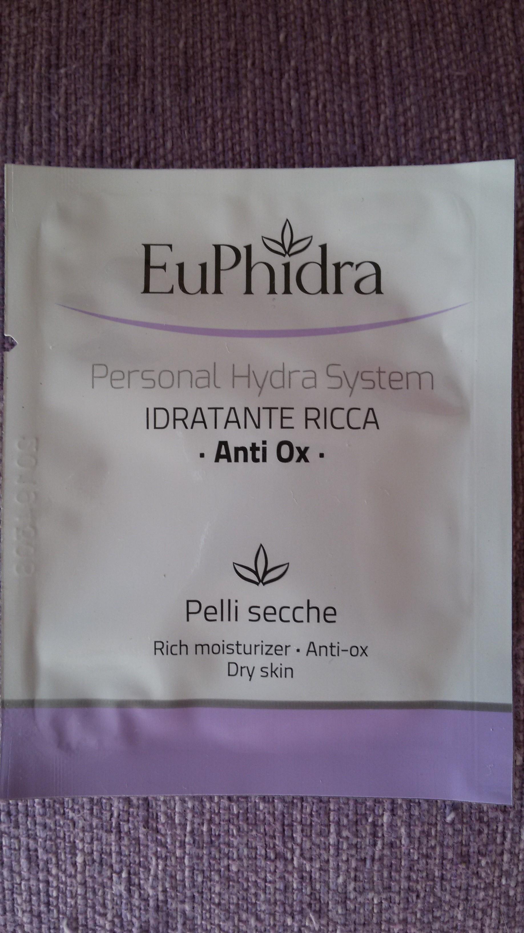 Euphidra Idratante ricca antiossidante, recensione Euphidra Idratante ricca antiossidante, opinione Euphidra Idratante ricca antiossidante