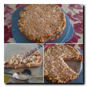 Sbriciolata alle mele e crema pasticcera