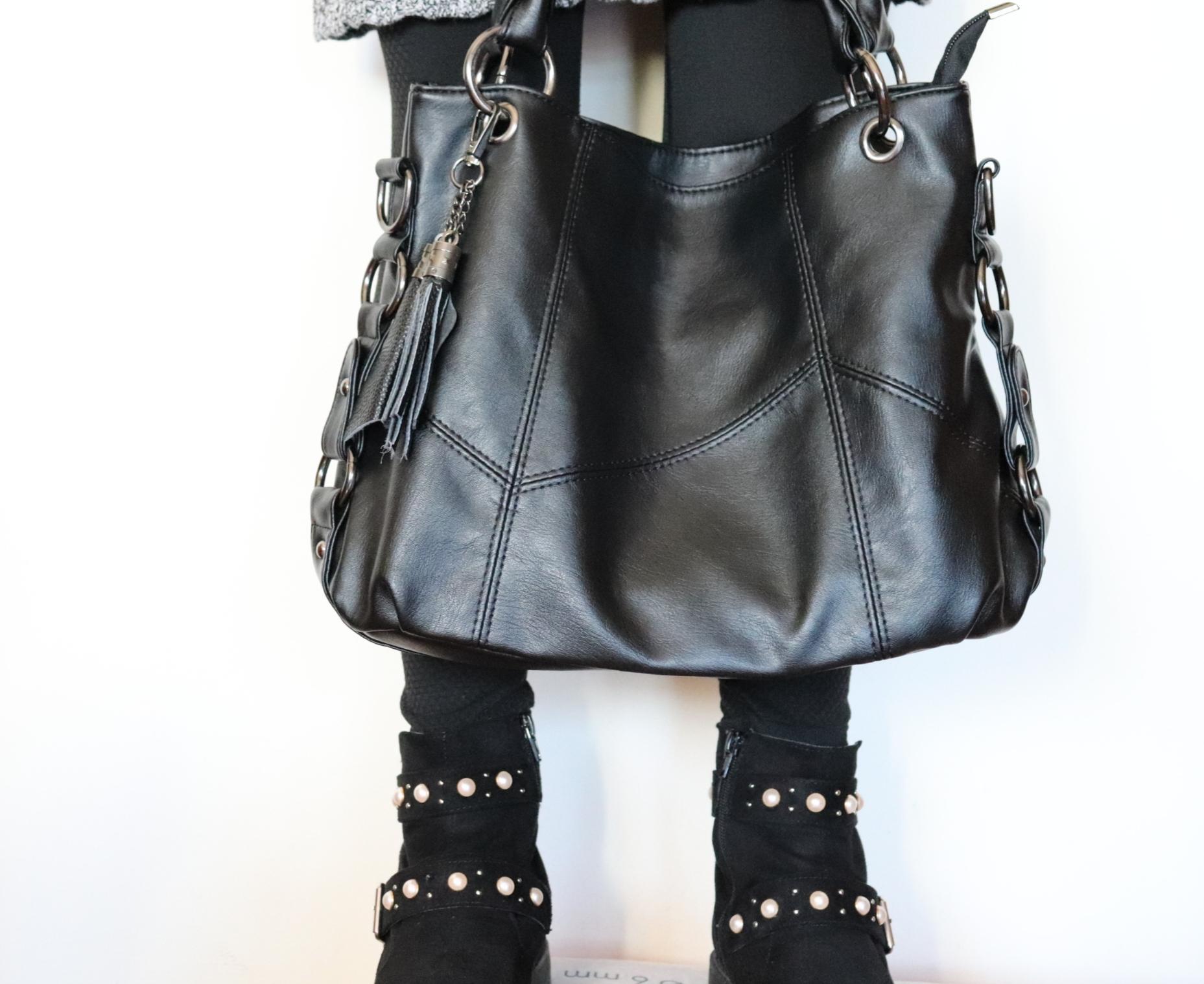 borsa, borsa a tracolla, borsa nera, borsa donna, rosegal, bag