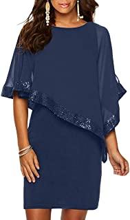 vestito chiffon blu