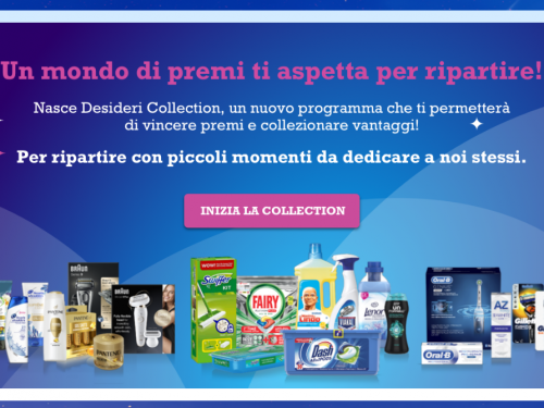 Desideri Collection – un mondo di premi per ripartire
