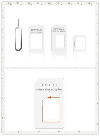 CAFELE 4 in 1 SIM Card Adapter Micro + Dual Nano Kit with Eject Pin zaful