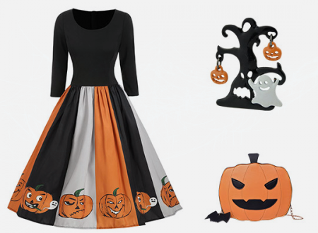A scary and chic outfit for Halloween