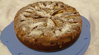 torta di mele e cioccolato fondente