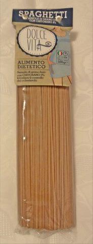 spaghetti al chitosano con ceci