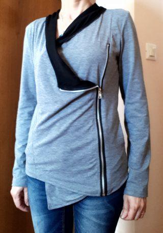 giacca con chiusura a cerniera newchic