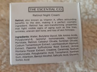 inci The Escential Co. Retinol Night Cream