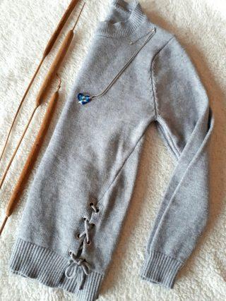 maglione grigio, zaful