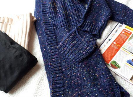 Cardigan lungo a maglia