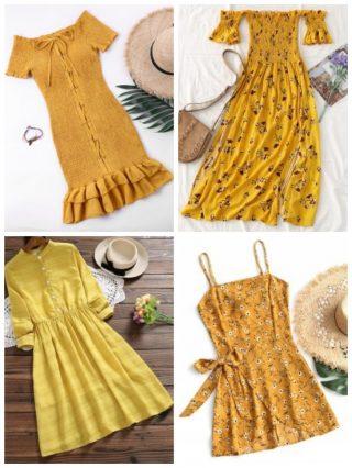 yellow dresses, vestiti gialli