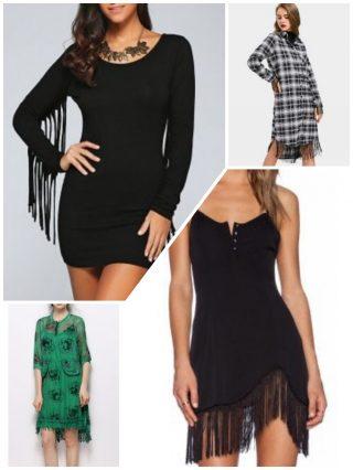 fringe dresses, vestiti con frange