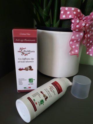 biomiura crema antiage allo zafferano, pelli mature