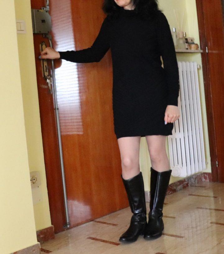 vestito maglione, maglia vestito, maglia lunga