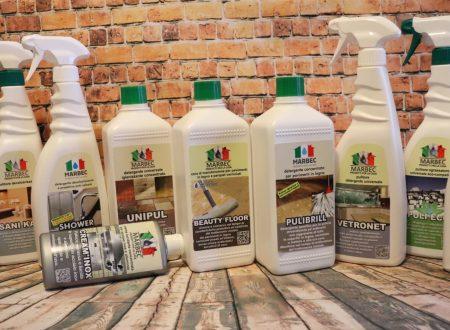 Casa pulita con i prodotti Marbec