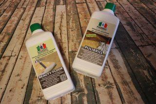 beauty floor, pulibrill marbec, detergente legno, cera parquet