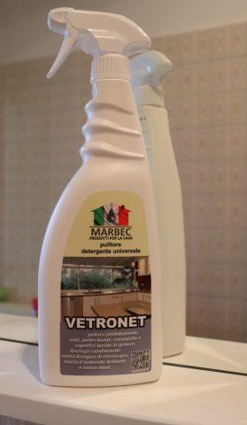 vetronet marbec, pulitore vetri, detergente vetri