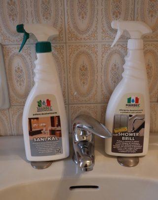 sani kal, shower brill, marbec, detergenti, pulizia casa