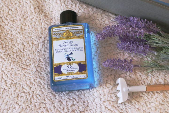 bagno doccia riequilibrante amovita, iris dei baroni toscani