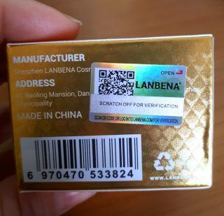 cosmetici cinesi lanbena, sigillo di garanzia