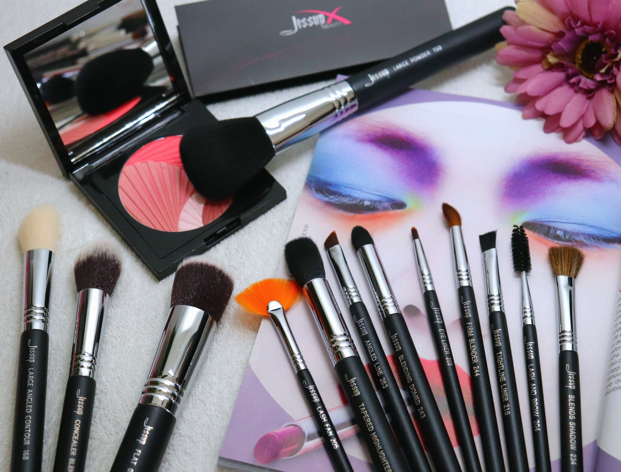 set pennelli per trucco jessup beauty