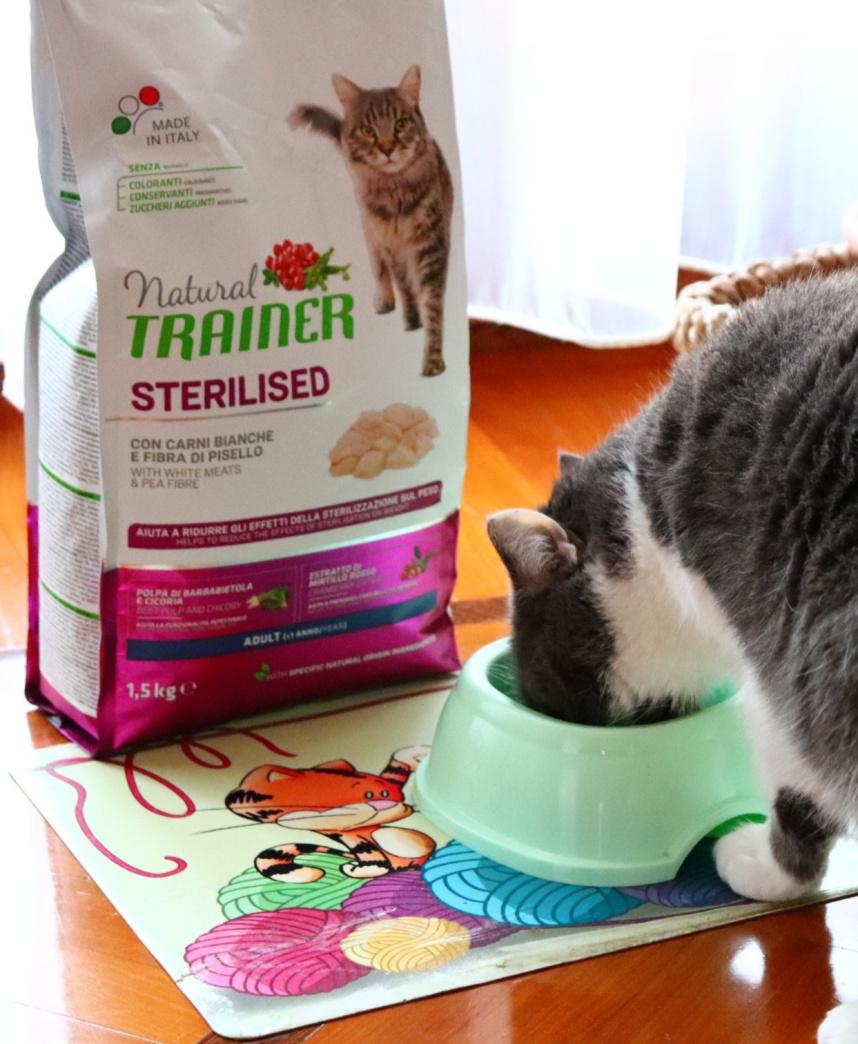 alimentazione gatto sterilizzato, natural trainer sterilised