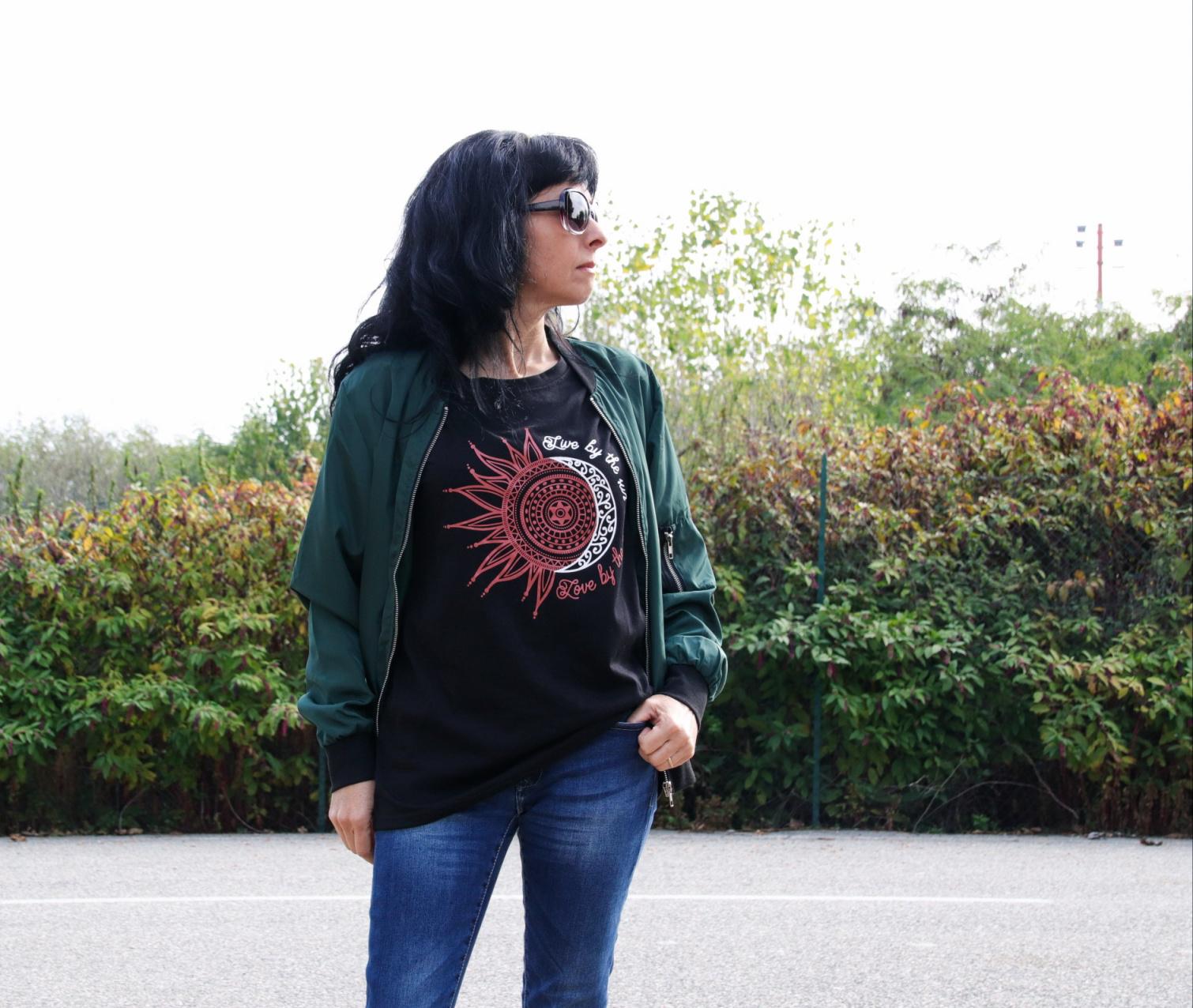 t-shirt sun and moon dutut