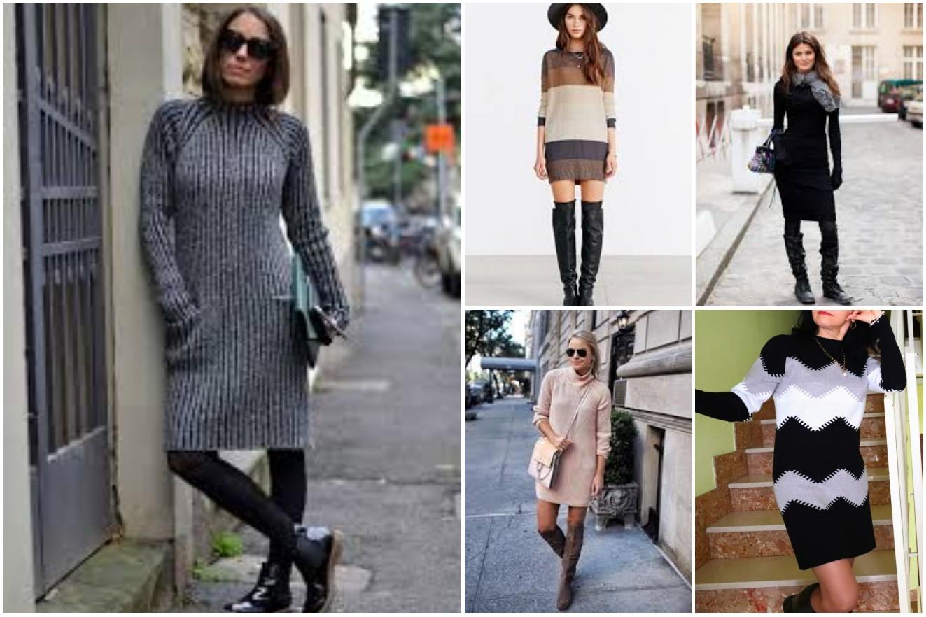 abito in maglia abbinamenti