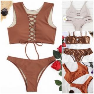 brown swimsuit, costumi bagno, swimsuit, zaful