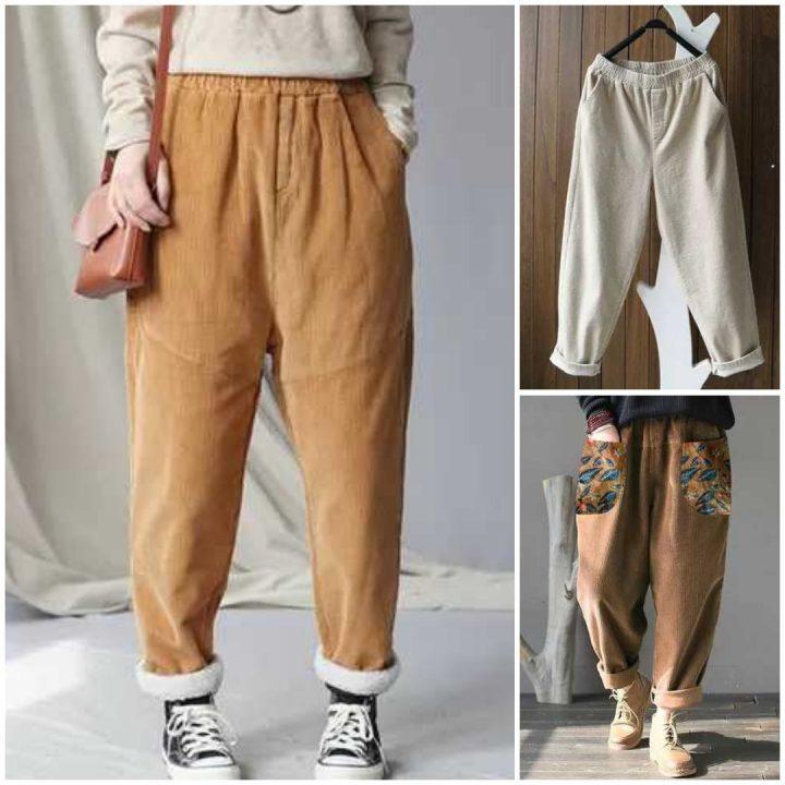 pantaloni di veluto a coste