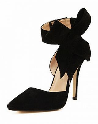 scarpe nere con tacco e fioco, choies, black pumps