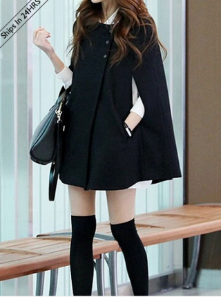 cappotto nero, choies, black coat