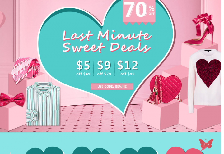 valentines day sale rosegal