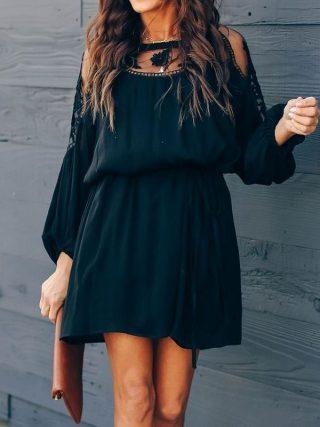 vestito con maniche lunghe