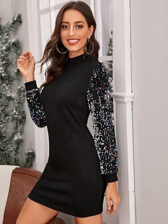 abito con paillette outfit natalizio