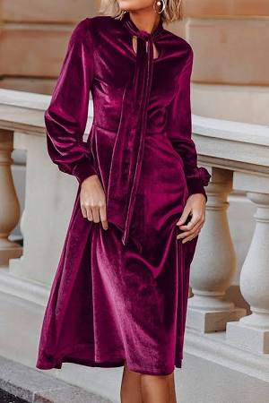abito elegante in velluto